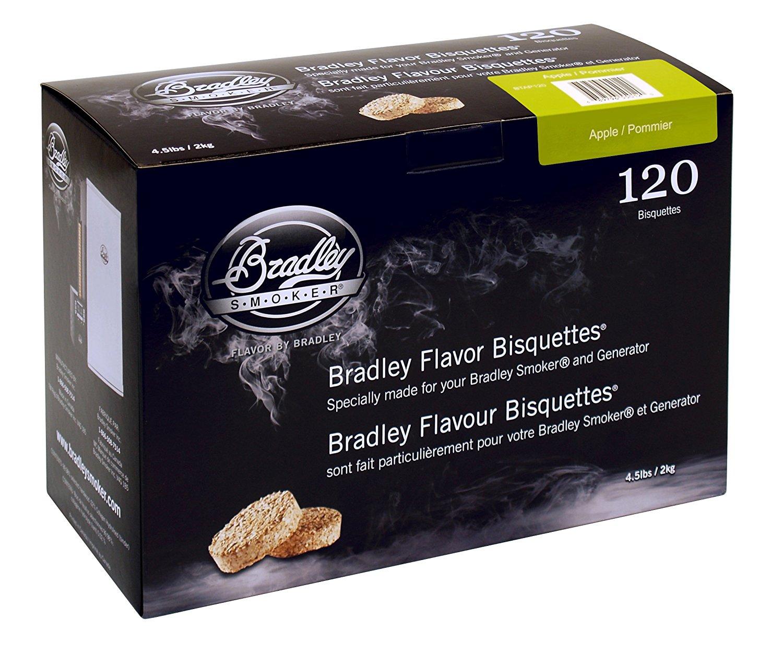 Bradley Smoker Äppelträ Briketter 120-pack UTFÖRSÄLJNING