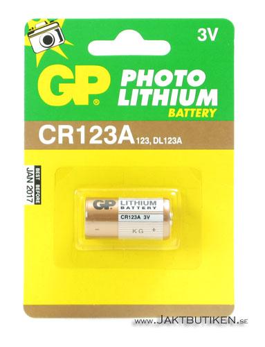 GP 3 V Lithium Cell - CR123A Batteri