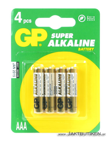 GP Superalkaline - AAA Batterier