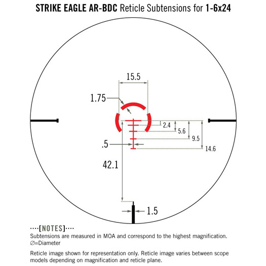 Vortex Strike Eagle 1-6×24 AR-BDC